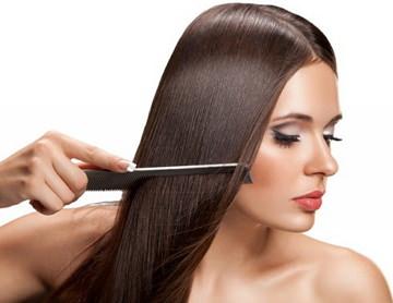 Восстановление волос без выпрямления волос